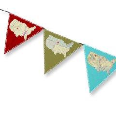 U.S.A. Pennants Banner