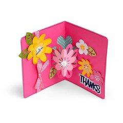 Thanks 3-D Flowers Card