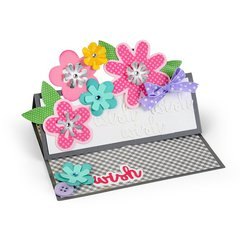 Wish Flowers Stand-Ups Card