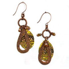 Navajo Textile Earrings by Jess Italia-Lincoln featuring Navajo Textile DecoEmboss Die from Sizzix