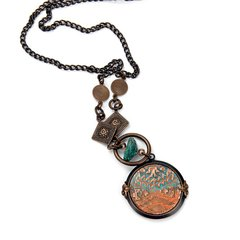 Finding Santa Fe Necklace by Jess Italia-Lincoln featuring Navajo Textile DecoEmboss Die from Sizzix