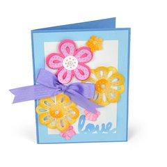 'Love' Flowers Card by Deena Ziegler