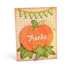'Thanks' Pumpkin Card