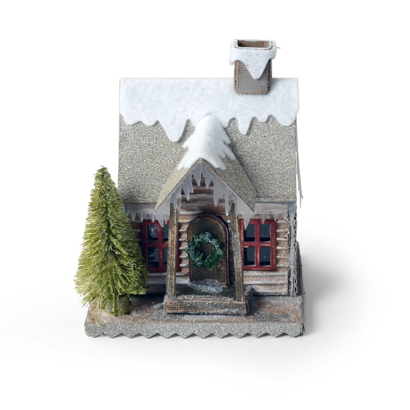 Village Snow Covered Country Cabin