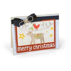 Bird & Reindeer Merry Christmas Card