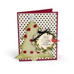 Wishing You a Merry Christmas Tree Wreath Card