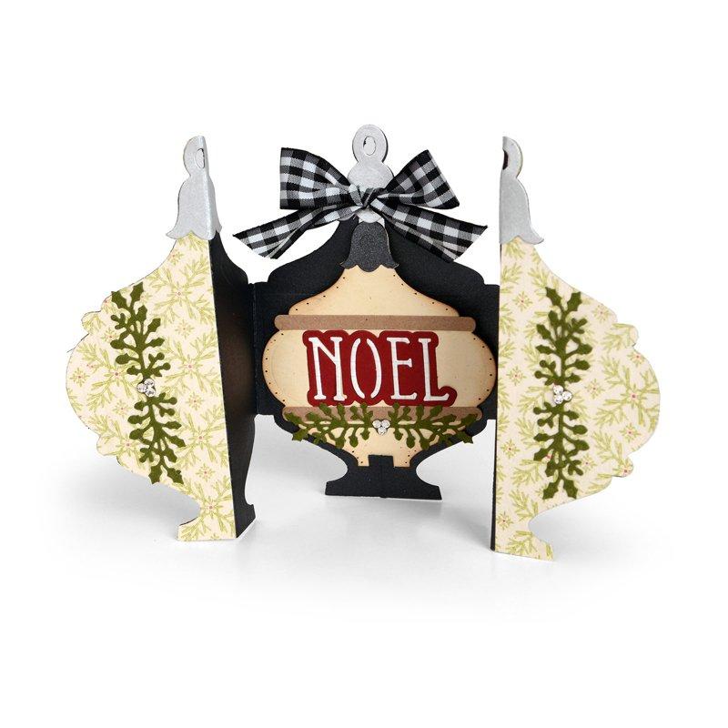 Noel Ornament Fold a Long Card 2