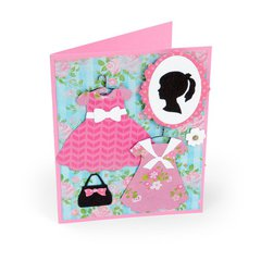 Cameo Party Dress Card