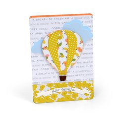 Hello Beautiful Hot Air Balloon Card