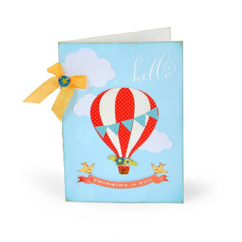 Hello Thinking of You Hot Air Balloon Card