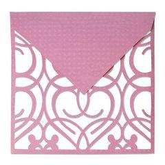 Swirls Lattice Cut Envelope Overlay