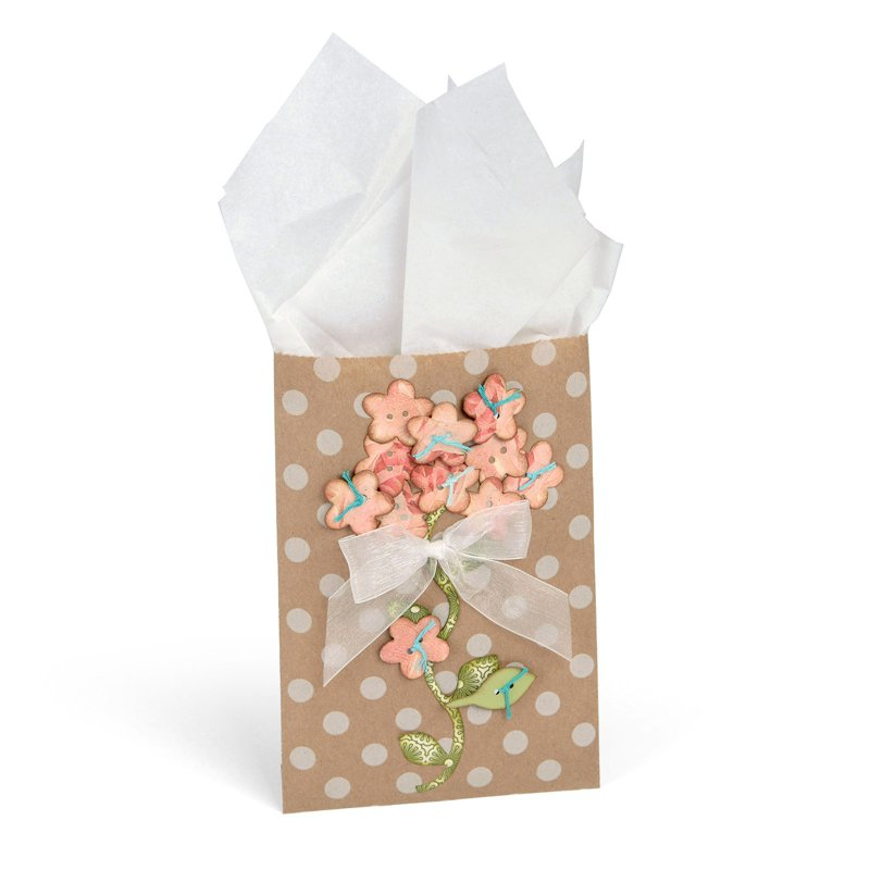 Flower Button Fine Gift Bag