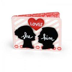 'She Loves Him' Card