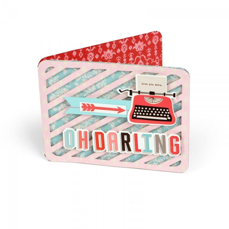 'Oh Darling' Striped Card
