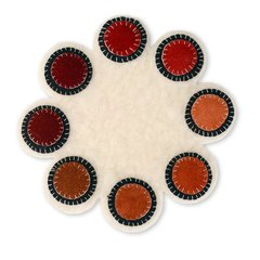 Circles Penny Rug Candle Mat