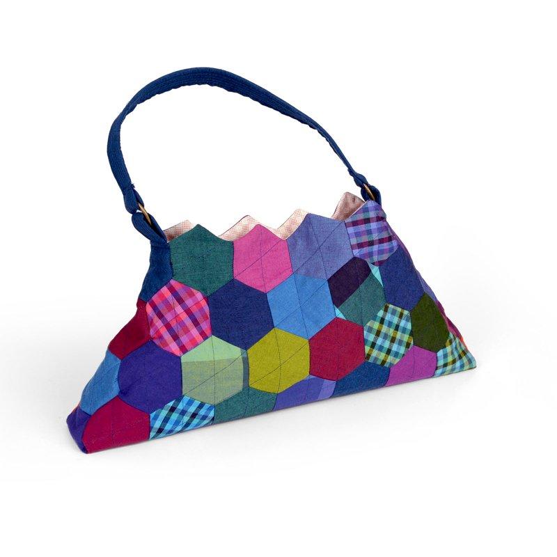Hexagons Purse by Kathy Ranabargar