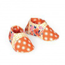 69569d57bd2 Orange   Yellow Baby Shoes by Kathy Ranabargar
