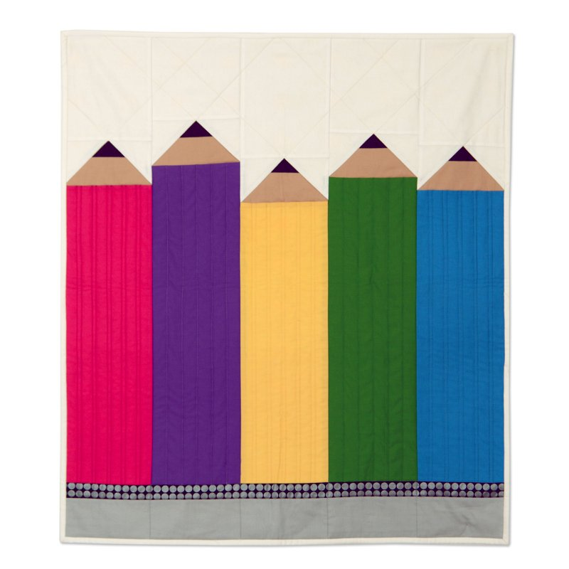Pencils Wall Hanging by Kathy Ranabarger