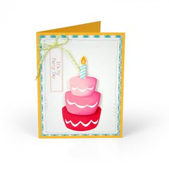 Make a Wish Cake Cards featuring 13 pk Cake Triplits Die Set