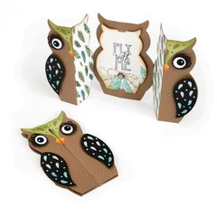 Fly with Me Owl Fold-a-Long Card