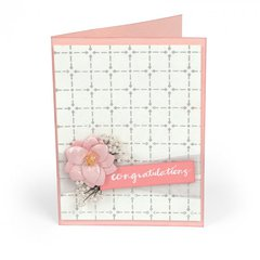 Embossed Congratulations Card