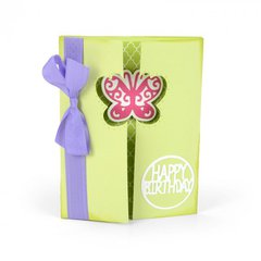 Happy Birthday Butterfly Gatefold Card
