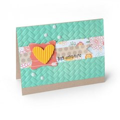 Let's Celebrate Woven Card
