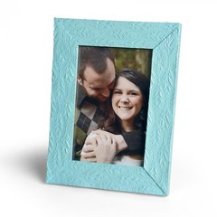 Embossed Feathers Frame