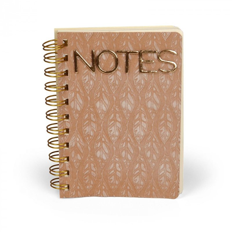 Embossed Feathers Notebook