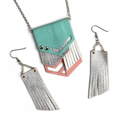 Coordinated Necklace and Earring set from Sizzix