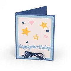 Happy Birthday Hearts & Stars Card