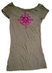 Flower Embelished T-Shirt by Cara Mariano