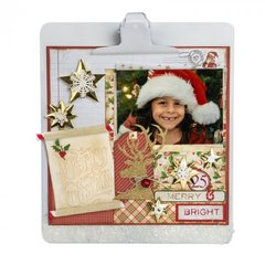Merry & Bright Scrapbook Page