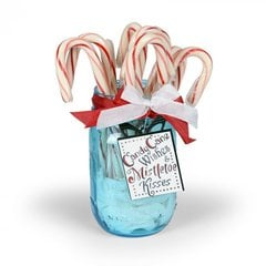 Candy Cane Wishes Jar