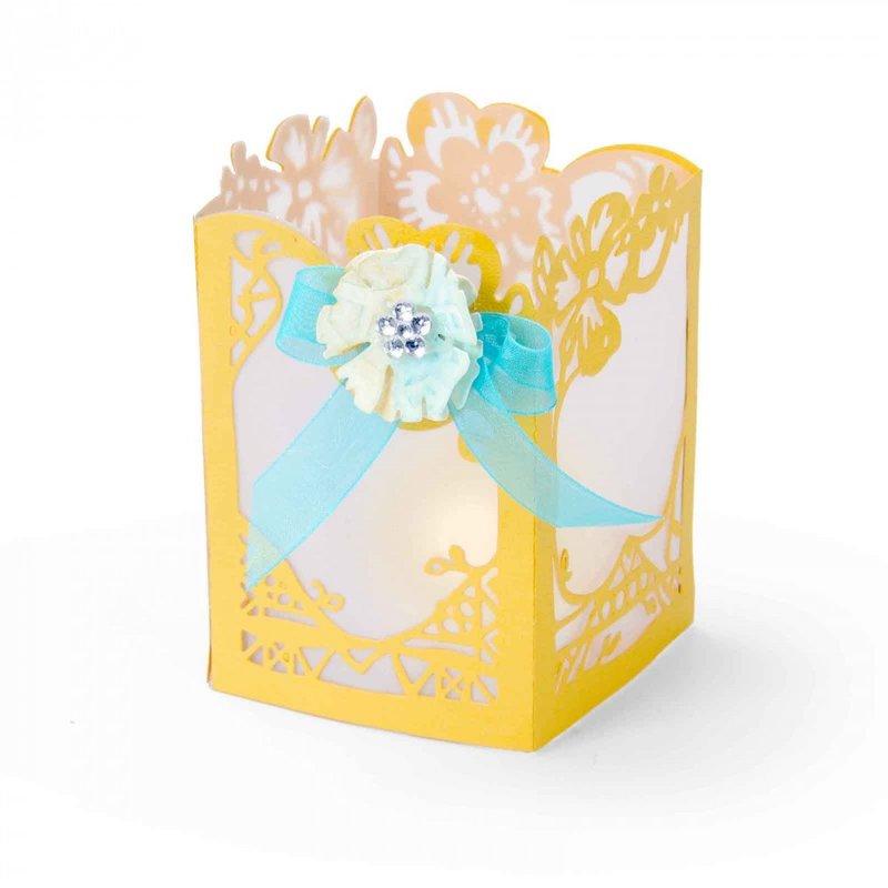 Yellow Floral Lantern