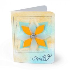 Smile Flowers Card by Suzanne Sergi for Sizzix