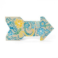 Floral Swirls Plus Size Die for Home Decor