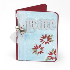 Poinsettia Peace Card by Suzanne Sergi for Sizzix