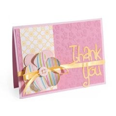 Floral Embossed Thank You Card by Cara Mariano