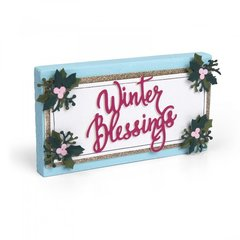 Winter Blessings Wood Block