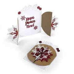 Hope, Peace, Noel Gatefold Card