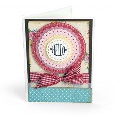 Hello Scallop Circles Card