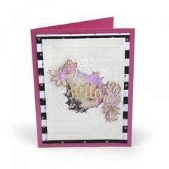 Hello Wildflowers Shaker Card