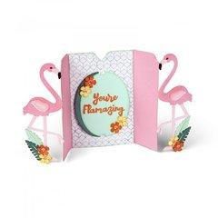 You're Flamazing Flamingo Fold-a-Long Card