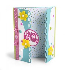 Happy Birthday Edgelits Gatefold Card