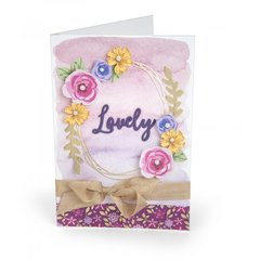 Lovely Layered Flowers Card #2