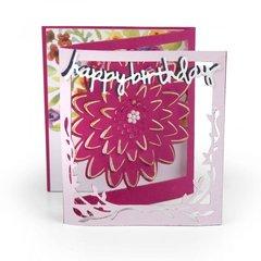 Happy Birthday Floral Tri-fold Card
