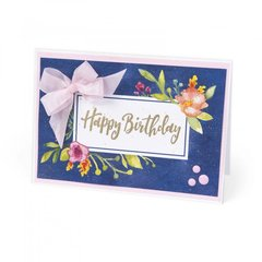 Happy Birthday Floral Frame Card