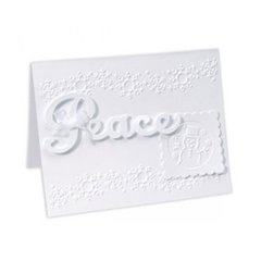 Embossed Peace Snowman Card by Cara Mariano