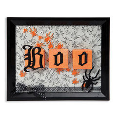Embossed Boo Spiders Frame by Cara Mariano